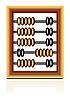 Векторный клипарт: деревянные счеты на белом