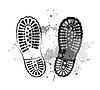 Vector clipart: Black foot trails