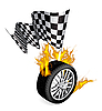 Vector clipart: Sports Race Emblems
