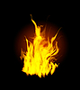 Vektor Cliparts: Burn Flamme, Feuer