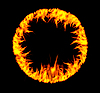 Vektor Cliparts: Feuer-Ring