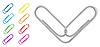 Vector clipart: paper clip set
