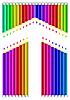 Vektor Cliparts: Aroow von Farbstiften