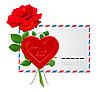 Vektor Cliparts: Umschlag an den Valentinstag