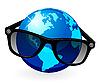 Vector clipart: Globe is in dark eyeglasses
