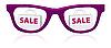 Vector clipart: sale sunglasses icon