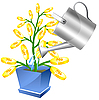 Vector clipart: Money tree with watreing can