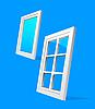 Vector clipart: perspective plastic window