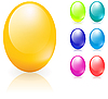 Vector clipart: Easter eggs