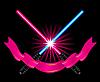 Vector clipart: Crossed light swords