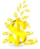 Vector clipart: golden coin