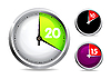Vector clipart: Set of timers