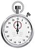Vector clipart: crown stopwatch