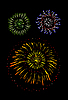 Vector clipart: Brightly Colorful Fireworks and Salute