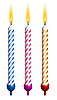 Vector clipart: birthday candles. Detailed portrayal