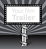 Vector clipart: Billboard with film strip