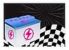 Векторный клипарт: автомобильного аккумулятора