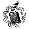 Vector clipart: clapboard and film strip