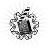 Vektor Cliparts: Schindel und Filmstreifen
