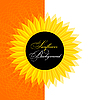 Vector clipart: Abstract sunflower background