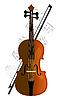 Vector clipart: cello, violoncello