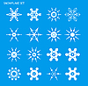 Vector clipart: Set with snowflakes