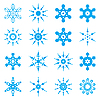 Vector clipart: Snowflake set