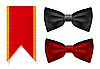 Vector clipart: Bow tie and red ribbon