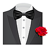 Bow tie with rose | Stock Vector Graphics