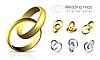 Vector clipart: Wedding rings