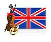 Vector clipart: Royal wedding in England
