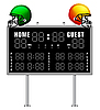 Scoreboard and Helmets