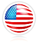 Vector clipart: round button with flag of USA