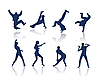 Vector clipart: Dancing silhouettes