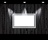 Vector clipart: vintage wooden wall with spot illumination