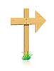 Vector clipart: wooden sign with grass