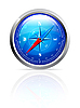 Vector clipart: Glossy Compass