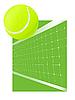 Vector clipart: Tennis background