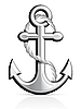 Vector clipart: Anchor and Rope