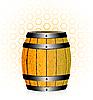 Vector clipart: wooden barrel with honey