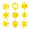 Vector clipart: set of sun