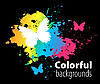 Vector clipart: Abstract colorful background