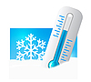 Vector clipart: Thermometer in the snow