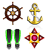Vector clipart: set of nautical icons