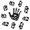 Vector clipart: fingerprint