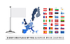 Vector clipart: European Union Map and Flag