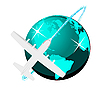 Vector clipart: Travel plane on map