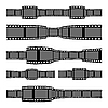 Vector clipart: Film strip banners
