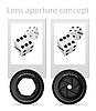 Vector clipart: lens aperture conept
