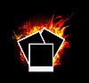 Vector clipart: Burning photo frame